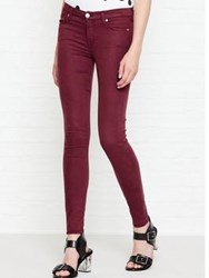 7 For All Mankind Rich Sateen Skinny Jeans Burgundy
