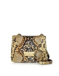 Ghibli Python Mini Crossbody Bag Brown