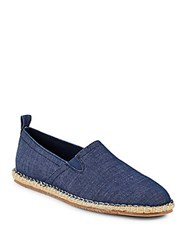 Saks Fifth Avenue Round Toe Slip On Espadrille Flats Navy