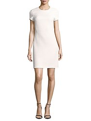 Rebecca Taylor Dia Embossed Sheath Dress Snow