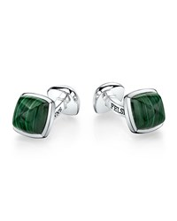 Sterling Silver Sugarloaf Cuff Links Malachite Men's Suzanne Felsen