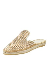 Andre Assous Marcia Woven Fabric Mule Gold