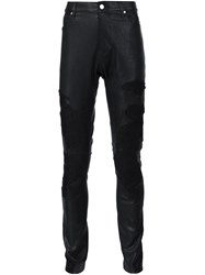 Rta Embroidered Skinny Trousers Black