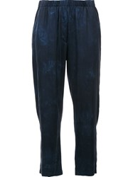 Raquel Allegra Dyed Cropped Trousers Blue