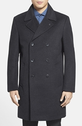 Vince Camuto Double Breasted Topcoat Charcoal