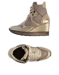 Voile Blanche High Tops And Trainers Gold