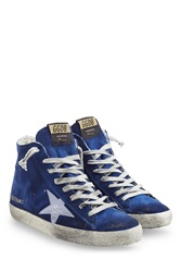 Golden Goose Francy Suede High Top Sneakers Blue