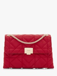 Dune Evangelina Quilted Clutch Bag Red