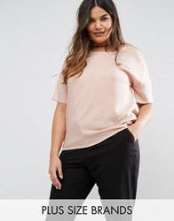 Junarose Short Sleeve Contrast Top Pink