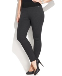 Calvin Klein Plus Size Pull On Skinny Compression Pants Charcoal