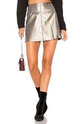 Bailey 44 Chew The Scenery Skirt Metallic Silver