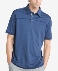 G.H. Bass And Co. Men's White Water Performance Polo Medieval Blue