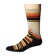 Stance Larieto Khaki Men's Crew Cut Socks Shoes