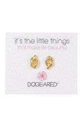Dogeared Simple Knot Earrings Metallic