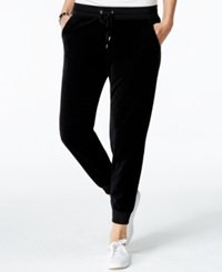 Style And Co. Petite Velour Drawstring Jogger Pants Only At Macy's