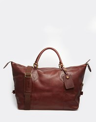 Barbour Leather Explorer Holdall Brown