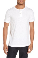 Theory Men's Gaskell Henley T Shirt White