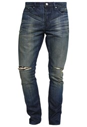 Earnest Sewn Bryant Slim Fit Jeans Redhook Dark Blue Denim