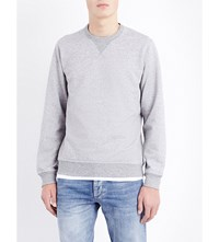 Brunello Cucinelli Crewneck Cotton Sweatshirt Lt Grey