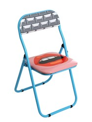 Seletti Mouth Folding Chair Multicolor