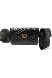 Gucci Gg Marmont Quilted Leather Belt Bag Black