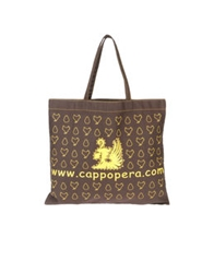 Cappopera Large Fabric Bags Dark Brown
