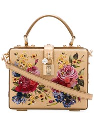 Dolce And Gabbana Boxy Rose Tote Bag Women Leather Metal Other Plastic Glass One Size Metallic