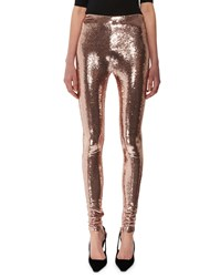 Tom Ford Liquid Sequin Full Length Leggings Nude