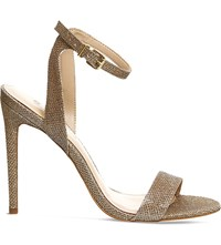 Office Alana Metallic Heeled Sandals Champagne Lurex