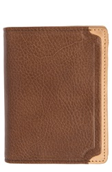 Trafalgar 'Gramercy Park' Leather L Fold Wallet Brown