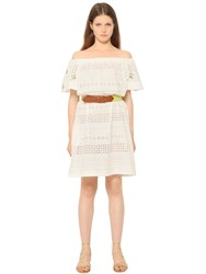 Blugirl Embroidered Cotton Eyelet Dress