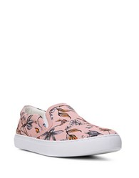 Sam Edelman Pixie Floral Print Slip On Sneakers Pink