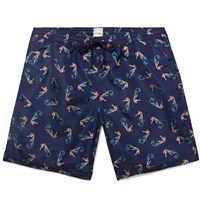 Paul Smith Long Length Printed Swim Shorts Navy