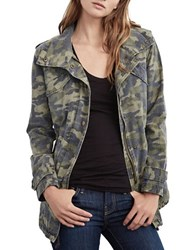 Velvet By Graham And Spencer Distressed Camo Parka