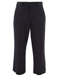 Sasquatchfabrix. Sasquatchfabrix Layered Wool Twill Trousers Navy