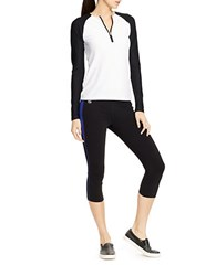 Lauren Ralph Lauren Colorblocked Cropped Leggings Blue