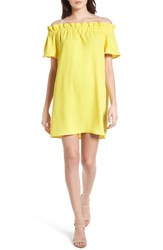 Pleione Women's Off The Shoulder Dress Yellow