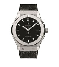 Hublot Classic Fusion 45Mm Titanium Watch Unisex Black