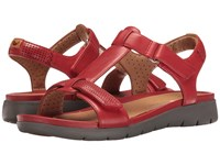 Clarks Un Haywood Red Leather Women's Sandals