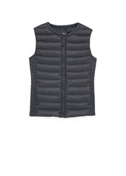 Mango Quilted Lightweight Nylon Gilet Black