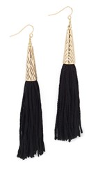Vanessa Mooney The Claudette Earrings Black Gold