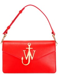 J.W.Anderson Logo Plaque Tote Bag Red