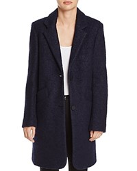 Marc New York Paige Boucle Coat Ink Blue