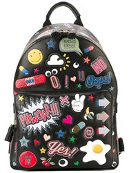 Anya Hindmarch 'All Over Stickers' Backpack Black