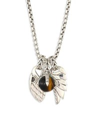 John Hardy Classic Chain Tigers Eye And Sterling Silver Pendant Necklace