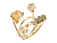 Alexis Bittar Geometric Multi Stone Ring With Satellite Crystal Detail 10K Gold Ring