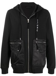 Diesel Black Gold Embroidered Zipped Hoodie 60