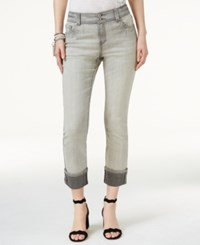 Inc International Concepts Straight Fit Cropped Jeans Only At Macy's Grey