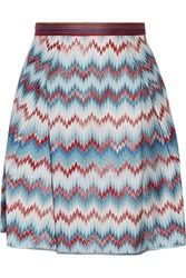 Missoni Chevron Knit Mini Skirt Blue