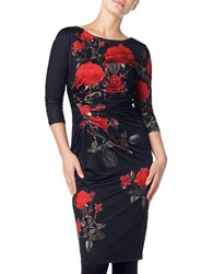 Phase Eight Veronica Rose Bodycon Dress Black Red